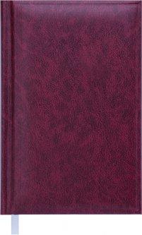 Ежедневник недатированный Buromax Base(Miradur) A6 из бумвинила на 288 страниц Бордовый (ВМ.2604-13)