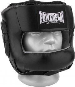 Боксерский шлем PowerPlay 3067 c бампером PU + Amara L Черный (PP_3067_L_Black)