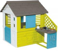 Домик Smoby Toys Радужный с летней кухней (810711) (3032168107113)