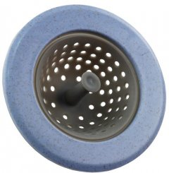 Силиконовый кухонный фильтр Supretto для раковины 11 см голубой (5537-0002)