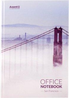 Книга канцелярская записная Axent San Francisco А4 в твердой обложке 192 листа клетка (8423-22-A)