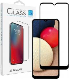 Защитное стекло ACCLAB Full Glue для Samsung Galaxy A02s Black (1283126509612)