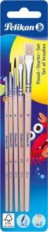 Набор кистей Pelikan №2, 4, 6 из пони + №6, 10 из щетины 5 шт (700566)