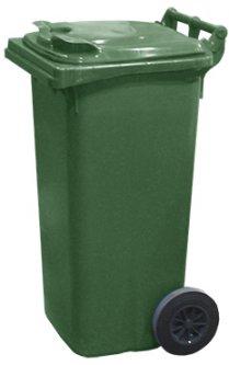 Мусорный контейнер Jcoplastic 480 х 950 х 530 мм 120 л Зеленый (J0120 GNGN)