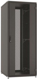 """Шкаф телекоммуникационный универсальный ZPAS SZB IT WZ-IT-428010-44AA-4-161-FP 19"""" с перфорированными дверями 42U Черный (IT-428010-44AA-4-161-FP)"""