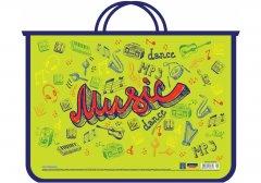Портфель пластиковый Cool For School А4 на молнии два отделения Music (CF31631-01)