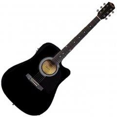 Гитара электроакустическая Fender Squier SA-105CE Black (227796)