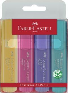 Набор пастельных текстовых маркеров Faber-Castell 4 шт (4005401546108)