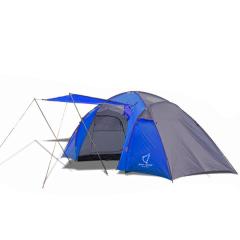 Палатка двухкомнатная Wolf Leader X-Large P222 4-места Синий