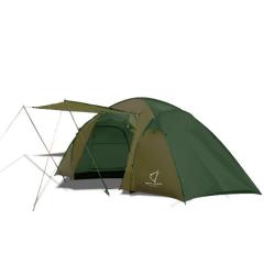 Палатка двухкомнатная Wolf Leader X-Large P222 4-места Зеленый