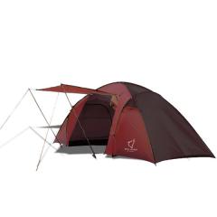 Палатка двухкомнатная Wolf Leader X-Large P222 4-места Красный