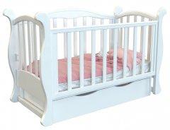 Детская кроватка Angelo Lux-6 Белый (11014)