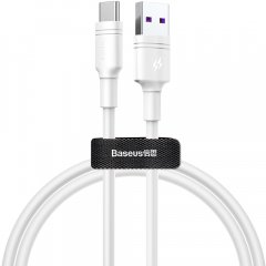 Кабель Baseus Double Loop Fast Charging Cable USB for Type-C 5A 1.0 м White (CATSH-B02)