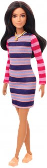 Кукла Barbie Модница в полосатом платье (GYB02)