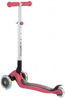 Самокат Globber Primo Foldable Lights колеса с подсветкой до 50 кг 3+ 3 колеса Красный (432-102-2) (4897070184886)