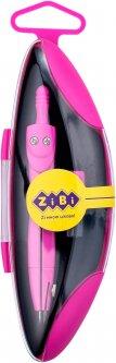 Циркуль ZiBi Start Neon в футляре с запасным грифелем Розовый (ZB.5323NS-10)