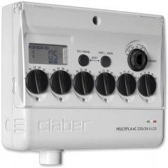 """Таймер подачи воды Claber Dual Select вход 3/4"""" до 98 режимов (84880000)"""