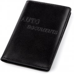 Обложка на водительские документы из натуральной кожи Shvigel 13924 Черная