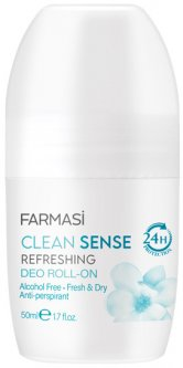 Женский роликовый антиперспирант Farmasi Clean Sense 50 мл (1107501) (ROZ6400104108)