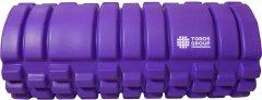 Массажный ролик для йоги и фитнеса Торос-Груп 14х33 см Фиолетовый (4820192752800) (TP-004Ф)