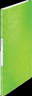 Папка пластиковая Leitz WOW А4 20 файлов Зеленая (4631-00-54)
