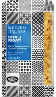 Макароны La Ruvida Ditali Rigati bronzo 500 г (8008857119540)