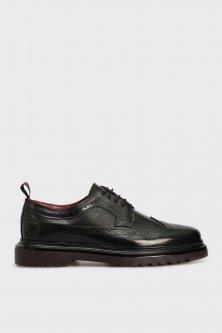 Мужские черные кожаные броги BEAUMONT Gant 40 21631003