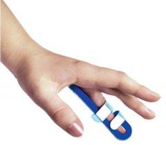 Ортез-шина для пальца руки с фиксацией к ладони Торос-Груп 503 размер 1 синий (4820192752695)