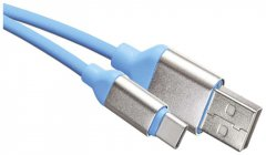 Кабель Emos Quick Charge USB-кабель 2.0 A/M - C/M 1 м Голубой (SM7025B)