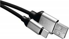 Кабель Emos Quick Charge USB-кабель 2.0 A/M - C/M 1 м Черный (SM7025BL)