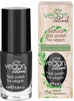 Лак для ногтей Vegan Natural №15 черный 9 мл (5906942670156)