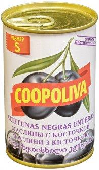 Маслины Coopoliva с косточками Черные 314 мл (8410522009276)