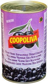 Маслины Coopoliva без косточек Черные 4.3 л (8410522002734)
