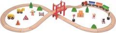 Деревянная железная дорога Viga Toys 39 элементов (50266)