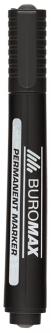 Набор перманентных маркеров Buromax 2-4 мм 12 шт Черный (BM.8700-01)