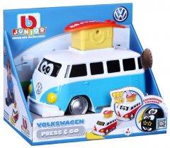 Машинка BB Junior Volkswagen Samba Poppin bus синяя (16-85110)
