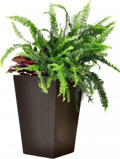 Вазон Keter Medium Rattan Planter 38.5 х 38.5 х 57 см Коричневый (7290103659271)