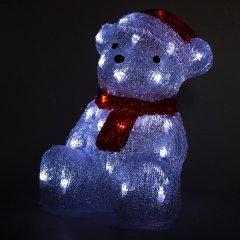 Новогодняя светодиодная фигурка Devilon Мишка 22х17х30 см 30 лампочек Белый (140311_5102682140311)