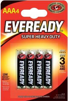 Батарейки Energizer Eveready AAA Super Heavy Duty 4 шт (639608)