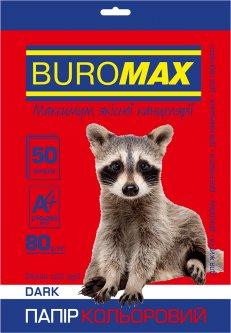 Бумага офисная Buromax А4 80 г/м2 Dark 50 листов Бордовая (BM.2721450-13)