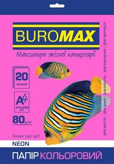 Набор бумаги офисной Buromax А4 80 г/м2 Neon 20 листов 5 цветов (BM.2721520-99)