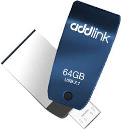 AddLink T55 OTG 2in1 64GB USB 3.1 + Micro USB Blue (ad64GBT55B3)