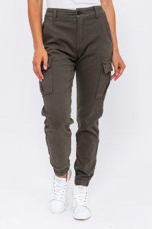 Стильные джинсы карго - хаки цвет, XS (34) XS (34)