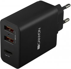 Сетевое зарядное устройство Canyon USB 2.4A - H-08 Black (CNE-CHA08B)