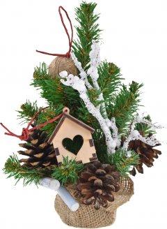 Искусственная елка Новогодько (YES! Fun) 0.25 м с украшениями Домик в лесу (904299) (4820079042994)