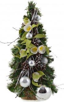 Искусственная елка Новогодько (YES! Fun) 0.46 м с украшениями Подснежник (904291) (4820079042918)