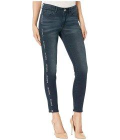 Джинси bebe Logo Tape Denim Jeans in Dark Night Dark Night, 4XL (US 27) (10424712)