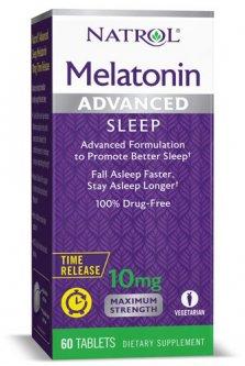 Витамины Natrol Melatonin Advanced Sleep 10 мг 60 таблеток (047469059644)