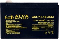 Аккумуляторная батарея ALVA АВТ-12-7.5-AGM 12V 7.5Ah (2111153)