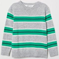 Джемпер H&M 9Z6284998 110-116 см Сірий із зеленим (hm06538224607)